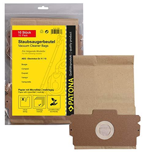 10x Bolsas de aspiradora papel para AEG Dimensión / Type 11