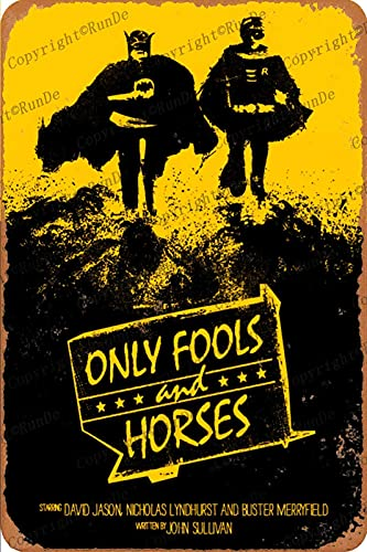 Hdadwy Cartel de chapa vintage - Solo póster artístico de tontos y caballos - Cartel retro de carteles de metal, placa de pintura de hierro, decoración de pared para bar, cafetería, garaje par