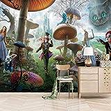 ZEISIX papel pintado habitacion foto en pared empapelar armario/Dibujos animados setas personajes/Aplicar para salones niños niñas juvenil habitacion bebe guardería dormitorio matrimonio cabeceros