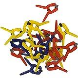 Connex Set di Morsetti a Molla, Multicolore, 25 mm, Confezione da 20 Pezzi, unità