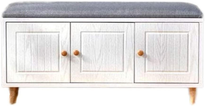 Wood Storage Bench 2-Tier Same day shipping Hallway Cabin Classic Shelf Rack Shoes