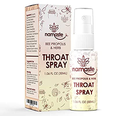 Bee Propolis & Echinacea Throat Spray Bee Propolis Extract Natural Immunity Boosting Spray for Children and Adults - Works for Cold, Cold Sore, Flu, Coughs, Sore Throats, 1 Pack, Bee Propolis & Herb