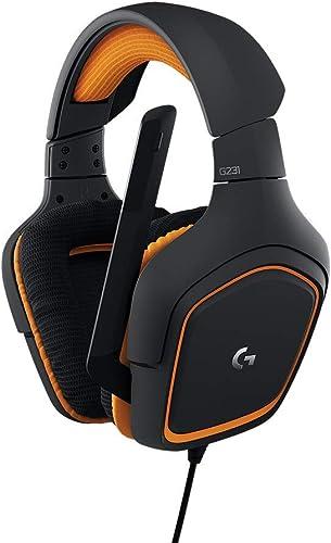 LogitechG231Casques Gaming Stéréo Prodigy avec Micro pour PC, XboxOne et PS4 - Noir/Orange
