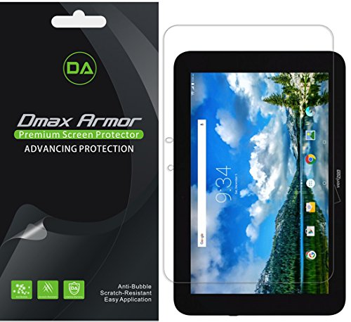 Dmax Armor [3-Pack] for Verizon Ellipsis 10 Screen Protector, Anti-Bubble High Definition Clear Shield