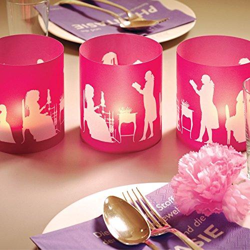 CEDON Windlicht Scherenschnitte pink