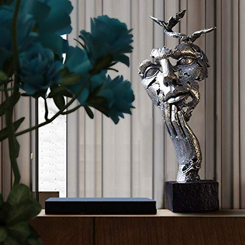 Scultura di amanti, Statue di coppie romantiche astratte Statuette creative moderne Ornamenti fatti a mano Decorazioni per la casa Regali per ufficio Ingresso soggiorno B 16x15x41cm (6x6x16 pollici)