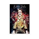 ZXCMNB Elton John Poster dekorative Malerei Leinwand