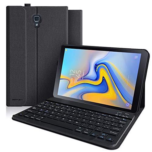 Funda Teclado Samsung Galaxy Tab A 10.5 2018, Funda para Samsung Tab A 10.5 2018 SM-T590/T595/T597 con Teclado Español (Incluye Ñ), Cubierta Magnética Delgada con Smart Auto Sleep-Wake (Gris negro)