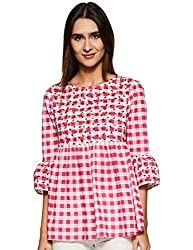 Styleville.in Womens Check Flared top