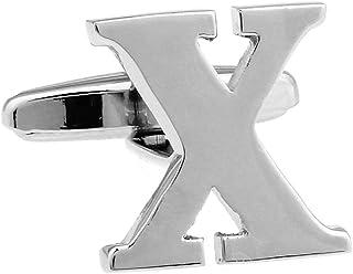 MRCUFF Letter X Pair Cufflinks in a Presentation Gift Box & Polishing Cloth