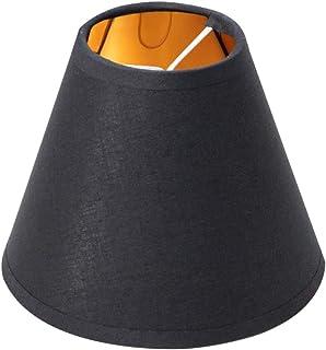 Mobestech - Pantalla de tela para lámpara de araña, color negro