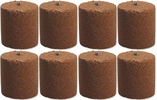 8x Holzspäne Brennelemente für Gartenfackel Feuerschale Feuersäule 8,5cm