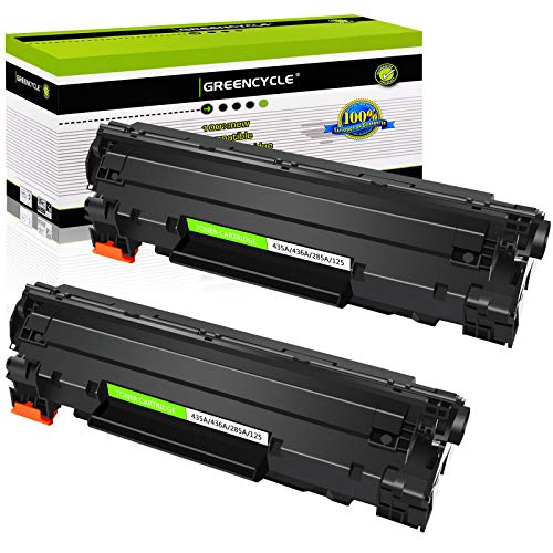 GREENCYCLE 2 Pack Compatible for Canon 125 3484B001AA 125 CRG 125 Laser Black Toner Cartridge use in ImageClass LBP6000 LBP6030w MF3010 Printer