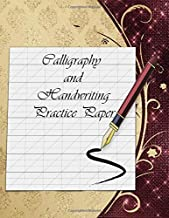 Calligraphy and Handwriting Practice Paper: Slanted Grid Layout