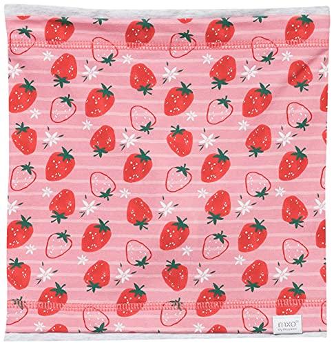 maximo Mädchen Halstuch Mode-Schal, rot-grün-erdbeere-streifen, 2