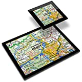 Destination 45823 - Mantel individual de vinilo (20 x 25 cm, 10 x 10 cm), diseño de mapa de viaje francés de Nancy Riverfront Francia