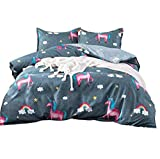 MAG 3PC Unicorn Comforter Sets Full/Queen Size Rainbow Quilt Bed Set for Kids and Girls…
