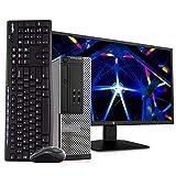 Dell OptiPlex 3020 SFF PC Desktop Computer, Intel i5-4570, 8GB RAM 500GB HDD, Windows 10 Pro, New 23.6' FHD V7 LED Monitor, New 16GB Flash Drive, Wireless Keyboard & Mouse, DVD, WiFi (Renewed)