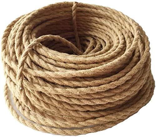 Meirrai Portalámparas Cable Textil Cable Para Lámpara 20m 3 Núcleos 0,75 mm² Cable Eléctrico Lino Trenzado Cable De Tela Con Revestimiento Textil Cable De Alimentación Lámpara Colgante DIY