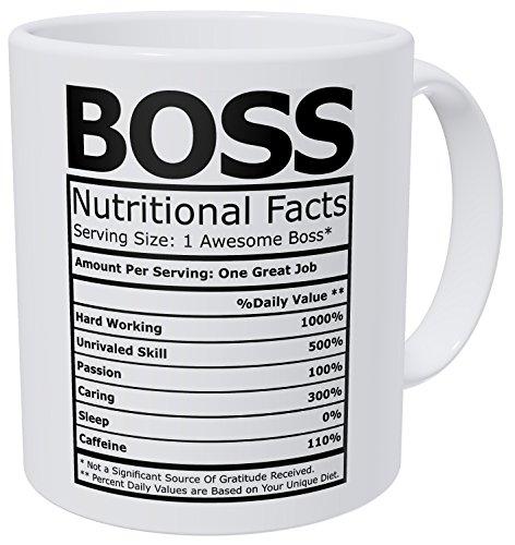 Wampumtuk Boss Nutritional Fatcs 11 Ounces Funny Coffee Mug