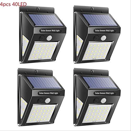 XYQY 1/4pcs 30/40 LED Solar Power Lampe PIR Motion Sensor Wandleuchte im Freien wasserdicht eisern Street Garden Yard Sicherheitslampe 4pcs 40led