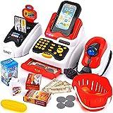 Victostar Registratore di Cassa Elettronico con Scanner, Supermercato Giochi di Ruolo Shopping Cassa Giocattolo Regalo per 3 Anni Plus Bambini