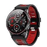 Fuixiut Smartwatch, Orologio Fitness Tracker Uomo Donna Smart Watch Sonno Cardiofrequenzimetro, Sportivo Activity Tracker Contapassi Cronometro (L6-Red)