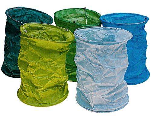 kadoh Papierlampion S/5 (L) Höhe 16 cm Ø 12 cm blau-grün