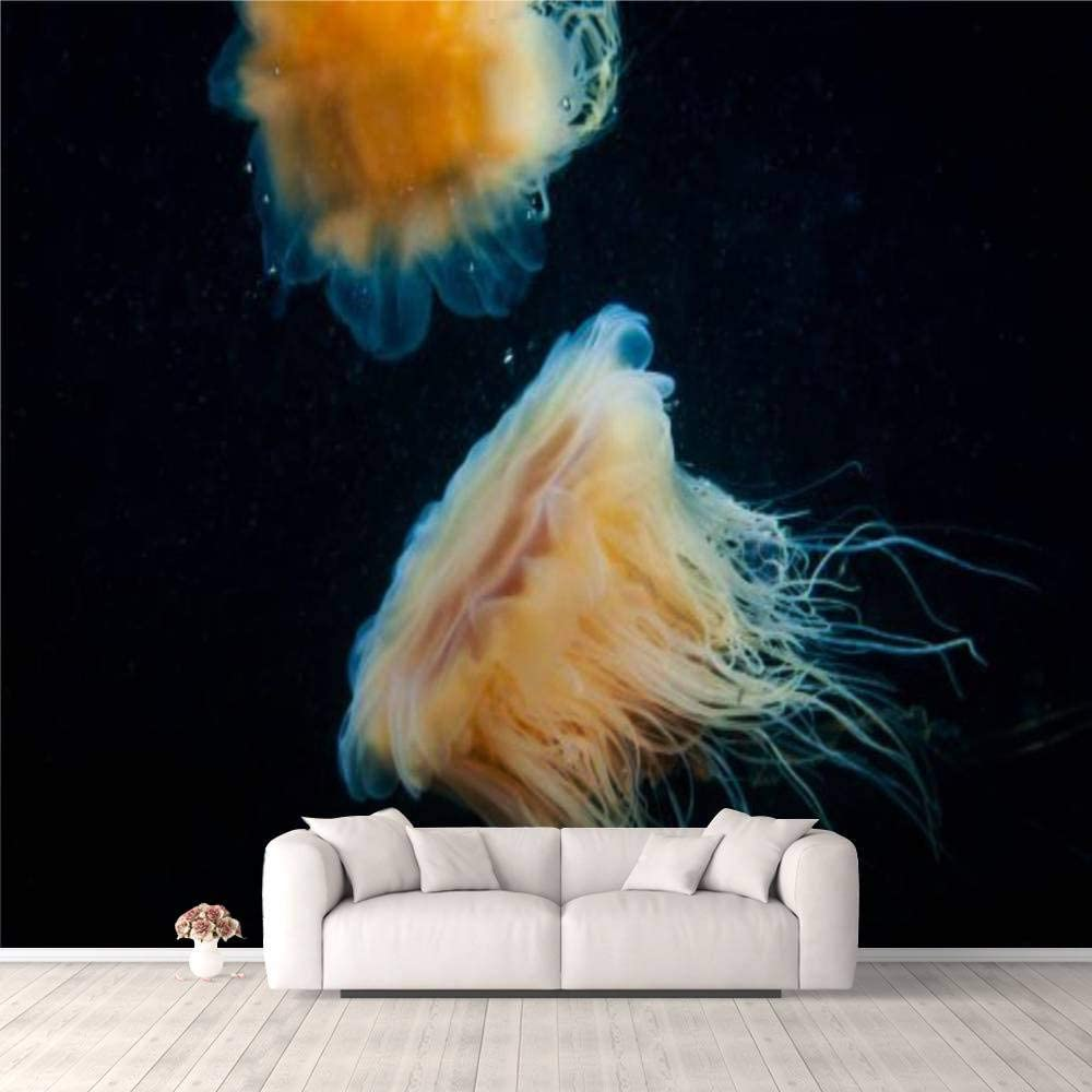 3D Wallpaper Lion's Mane Drifting Underwater Rare Gulf st L The Sales results No. 1 of in