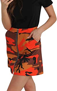 d66cd148b Amazon.es: minifaldas - Naranja / Faldas / Mujer: Ropa