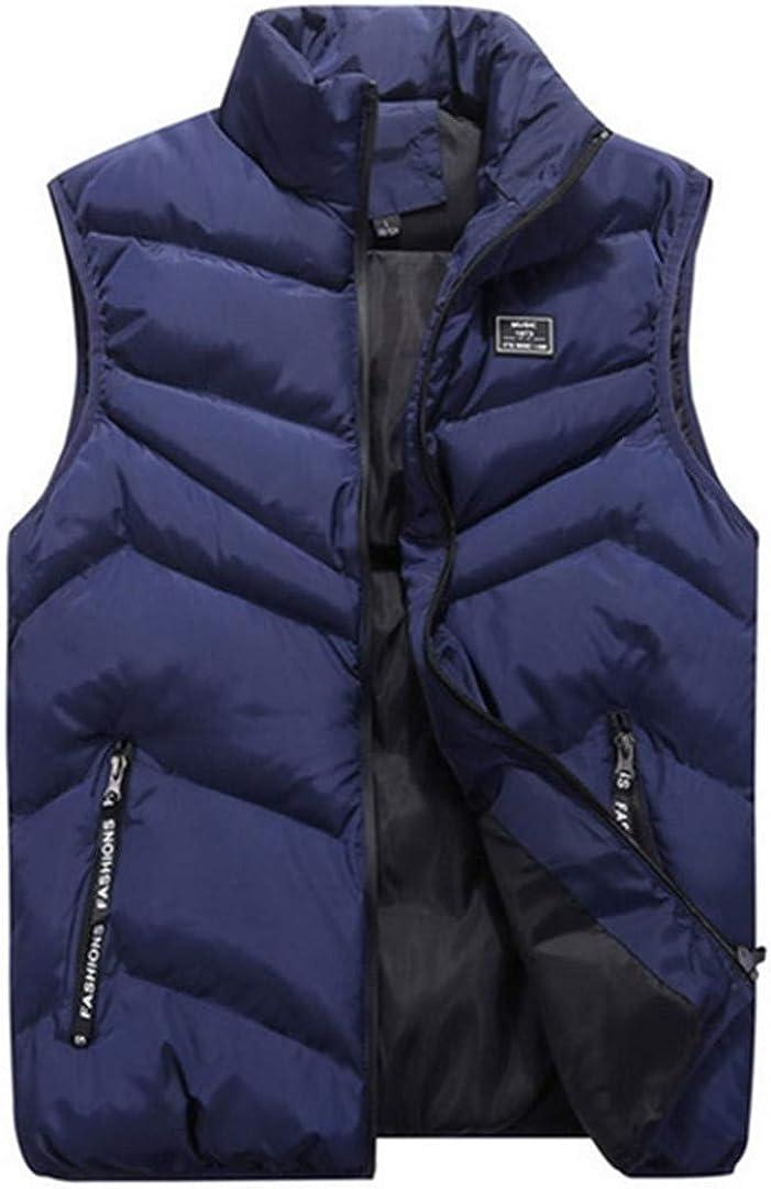 Zichhing Men Sleeveless Jackets Waistcoat Man Padded/Down Vests Outerwear Warm Vest Coat