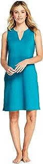 Lands' End Women's Cotton Jersey Sleeveless Swim Cover-up Dress