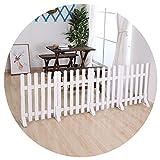 ZHANWEI Gartenzaun Staketenzaun Rasenkante Beeteinfassungen Weiß Innen- Dekorativ Hölzern Keine Graben Randleisten Trennwand, 4 Größen (Color : 1 PC, Size : 45x60cm)