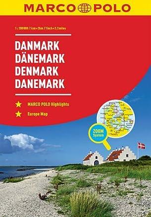 Marco Polo Road Atlas Denmark: Wegenatlas 1:200 000