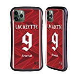 Head Case Designs Licenciado Oficialmente Arsenal FC Alexandre Lacazette 2020/21 Players Home Kit Group 1 Carcasa híbrida Compatible con Apple iPhone 11 Pro MAX