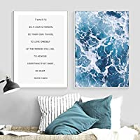 Wave Seascapes Wall Art Canvas Painting Posters And Prints Art Wall Pictures For Living Room Bedroom Decor 40x60cmx2 Unframed