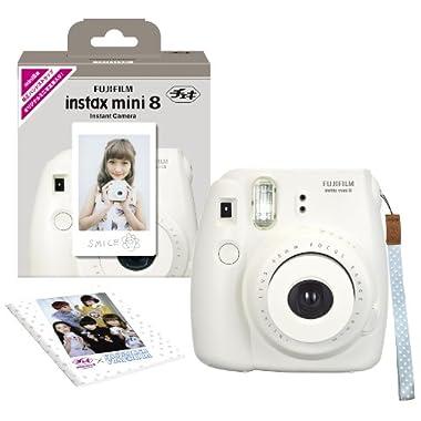 Fujifilm Fuji Instax Mini 8 N White + Original Strap Set Instax Mini 8N Instant