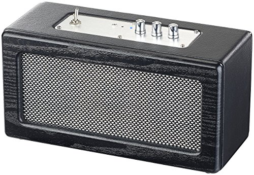 auvisio Speaker, Bluetooth: Mobiler Retro-Lautsprecher mit Bluetooth 4.1 und AUX-Eingang, 40 Watt (Lautsprecher mit AUX Anschluss)