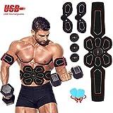 ZunBo EMS Bauchmuskeltrainer EMS Muskelstimulator USB Wiederaufladbar Elektrostimulation...