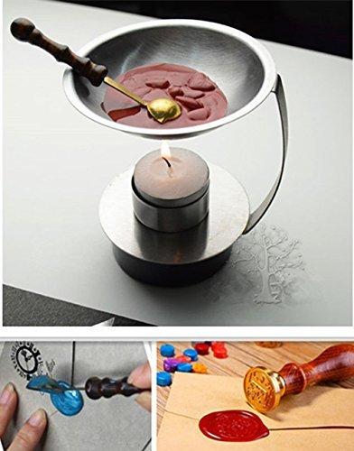 Christmas Wax Seal Stamp Set Warmer Furnace Melting Spoon Pot Tools Kits US
