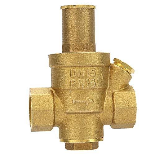 Messing Druckminderventil 1,6 Mpa Wasser Druckminderer Regelventil, RV Messing Einstellbarer Wasserdruckregler Reduzierventil DN15 1/2