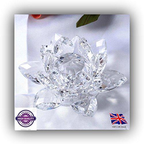 GP GRAND SAVER LOTUS Fleur de lotus en cristal transparent réfléchissant avec décoration pour la maison et le bureau.