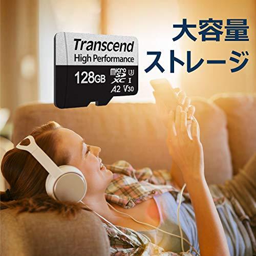 TranscendmicroSDカード128GBUHS-IU3Class10A2対応(最大転送速度100MB/s)TS128GUSD330S
