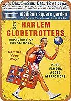 Harlem Globetrotters Madison Square Garden 注意看板メタル安全標識壁パネル注意マー表示パネル金属板のブリキ看板情報サイン