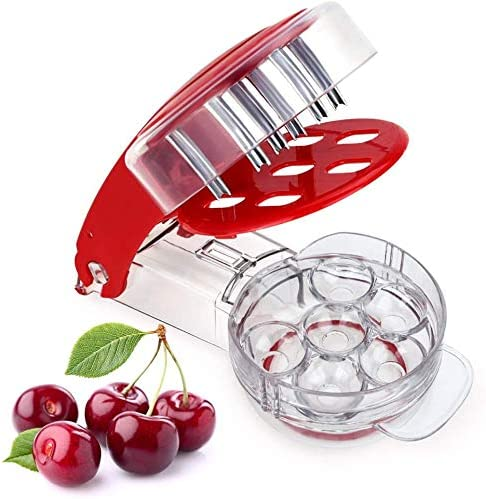 GOTOTOP Cherry Pitter 6 Cherries at Once Multiple Olive Pit Remover Tool Stone Seed Removing product image