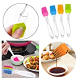 TANGNADE Set of 4 Pastry Basting Brushes Set,Silicone Baking Bakeware Bread Cook Pastry Basting Brush,for Home Kitchen Outdoor BBQ Grill Baking & Cooking