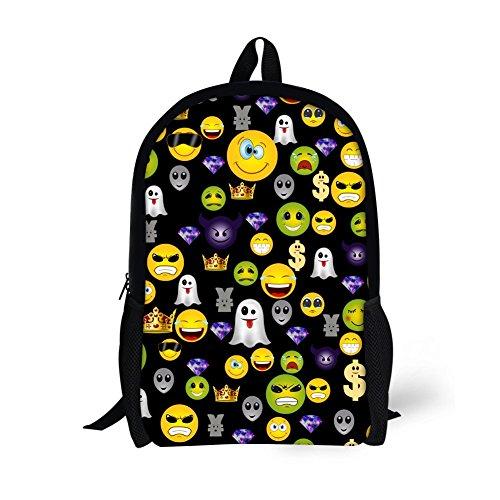 Kids Backpack Elementary Girls Cute Emoji School Book Bag for Teens Bookbags Kawaii Heavy Duty