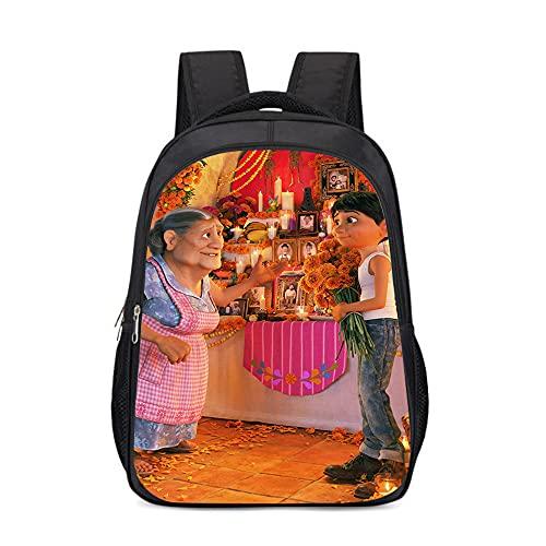 mmkow Impresión de mochila Mochila juvenil del Día de Muertos de México Músico desaparecido Hector Mochila de viaje de negocios (43x30x13cm) Moda