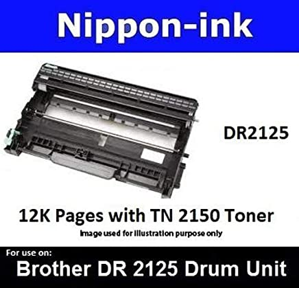 Nippon-ink DR2125 (Drum) For Use on Brother Laser Drum - MFC Series: 7320, 7340, 7345N, 7440N, 7450, 7840N, and 7840W. HL Series: 2140, 2150N, and 2170W. DCP Series: 7030, 7040, and 7045N.