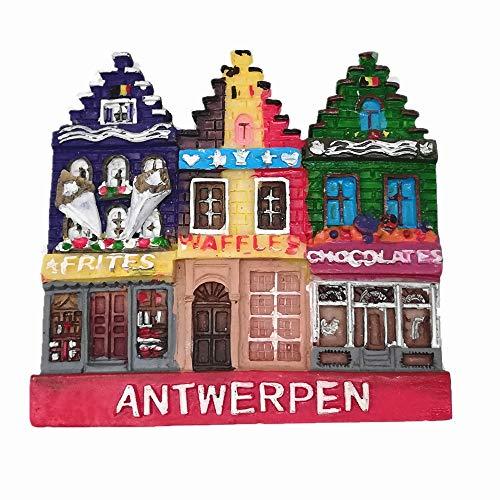 3D Antwerpen België koelkast magneet, Huis & keuken decoratie magnetische sticker Antwerpen België Souvenir koelkast magneet reizen souvenir gift collectie